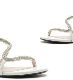 Sandália Rasteira Curves Glam White