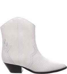 Bota Deluxe Croco White