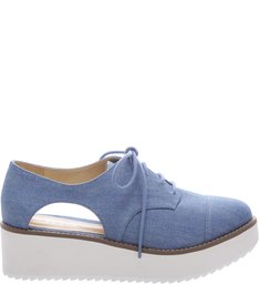Oxford Flatform Cut Out Light Blue