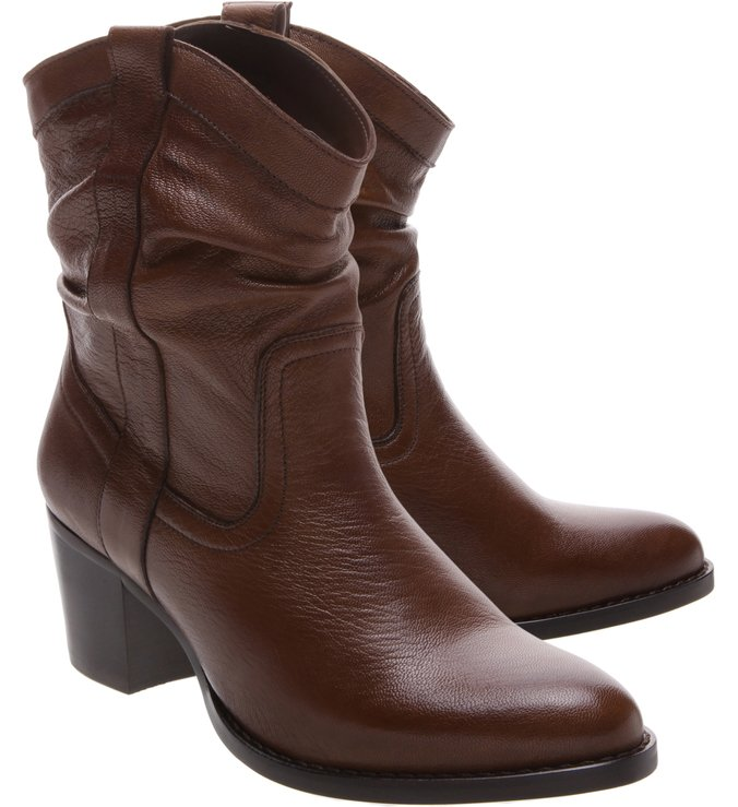 New Western Slouchy Boot Brown