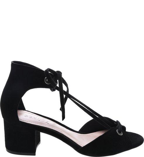 Sandália Block Heel Amarração Black