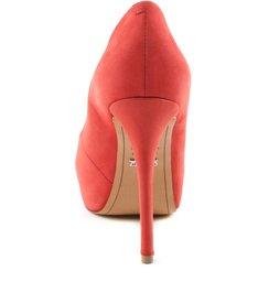 Peep Tote Glam Nobuck Poppy Red