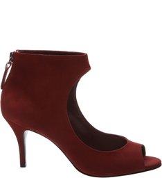 Peep Toe Boot Red