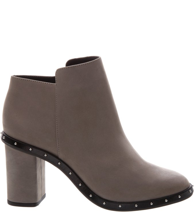 Ankle Boot Studs Nobuck Cinza