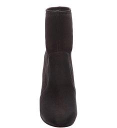 Skinny Boot Silver Heel Black