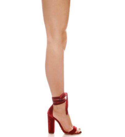 Sandália Velvet Lace Up Scarlet