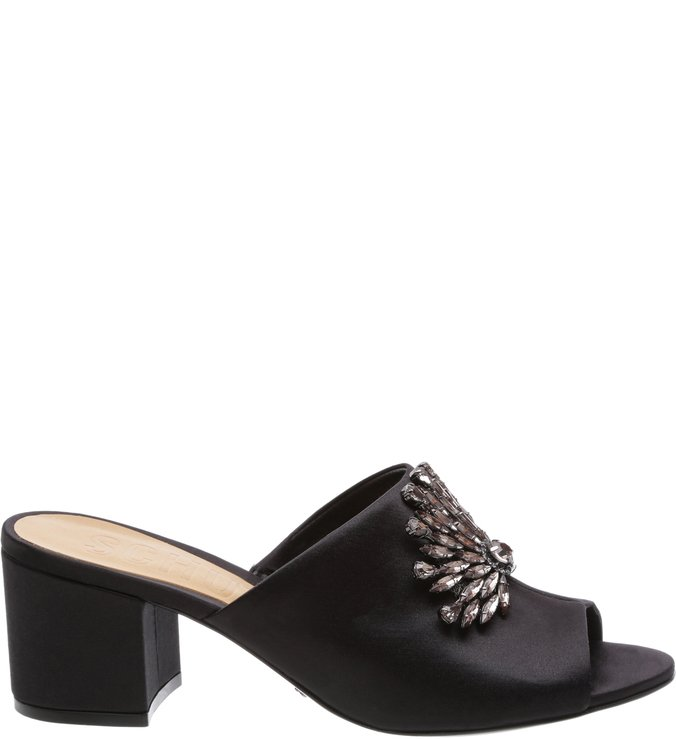 Mule Satin Glamour Black