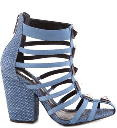 Sandália Spike Com Tiras Blue