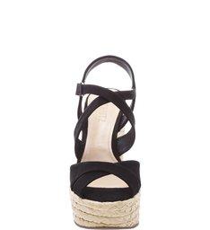 Sandália Salto Bloco Corda Black