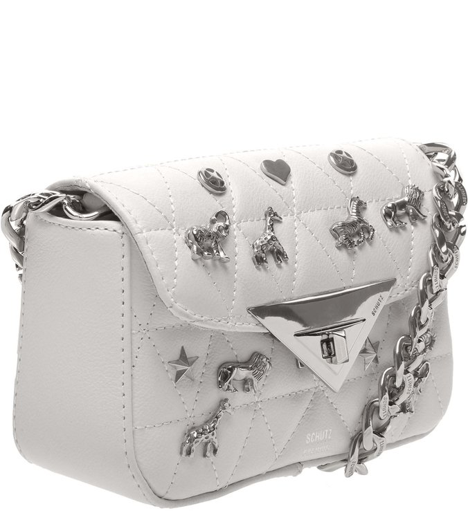 Baby Crossbody Matelassê Animals White