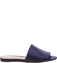 Slide Flat Satin Dress Blue