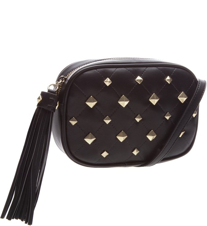 Kate Crossbody Studs Black