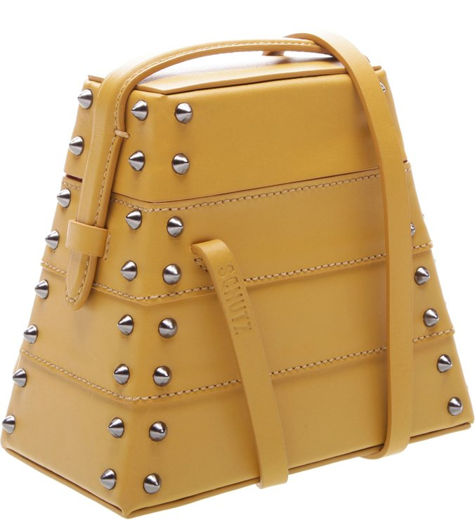 New Bucket Bag Lola Box Studs Yellow