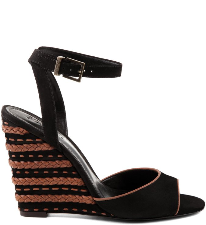 Anabela Striped Black
