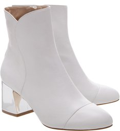 Bota Metallic Block Heel White