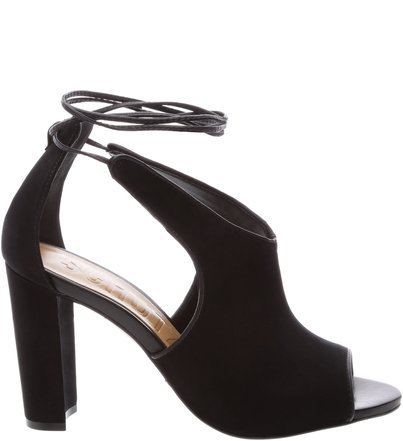 Sandália High Heel Lace Up Black