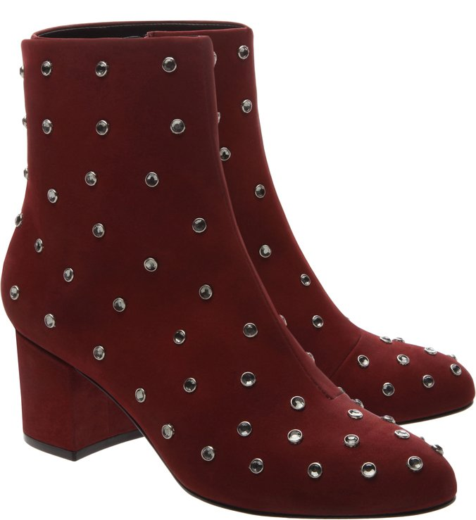 Studs Red Boot Nobuck