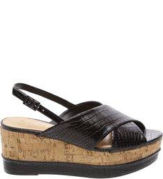 Sandália Flatform Slingback Black