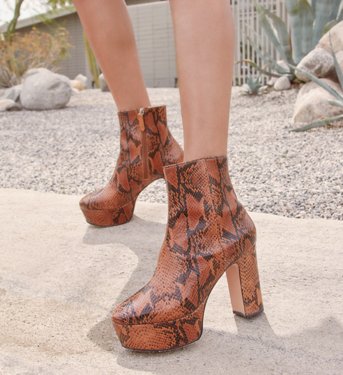 Ankle Boot Meia Pata Bold Snake