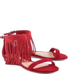 Flat Fringes Gisele Stripes Red