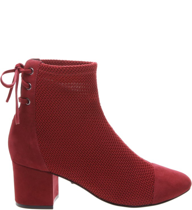 Boots Block Heel Red