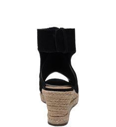 Wedge Open Back Black