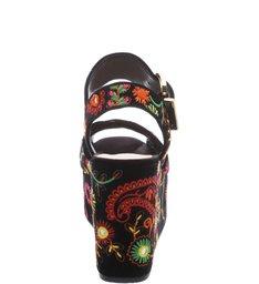 Sandália Bordado Plataforma Black