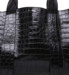 Shopping Maxxi Bag Bright Croco Black