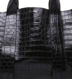 [SCHUTZ x SEPHORA] Shopping Maxxi Bag Bright Croco Black