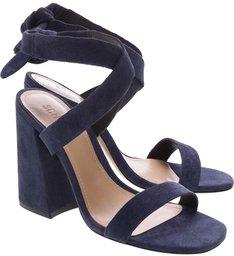 Sandália Nobuck Lace-up Blue