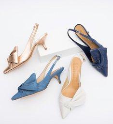 Pré-Venda Kitten Heel Cindy Maxi Bow Dress Blue