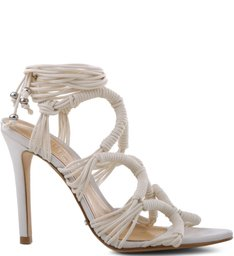 Sandália Knots Lace Up Pearl