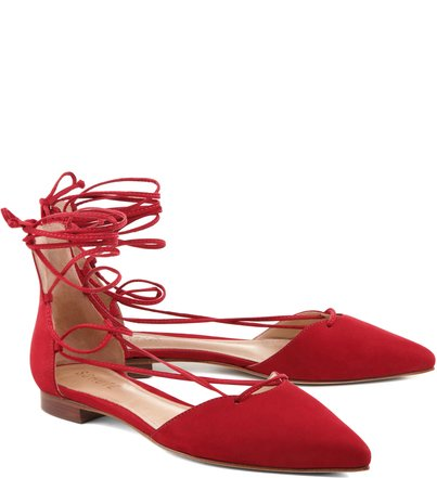 Sapatilha Lace Up Red