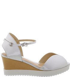 Anabela White Sole Silver