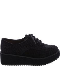 Oxford Flatform Velvet Black