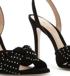 Sandália Salto Nobuck Knot Glam Black