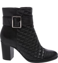 Bota Salto Bloco Buckle Black