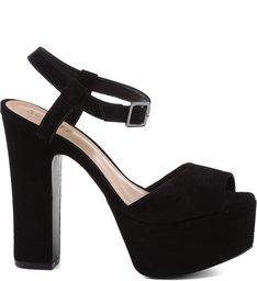 Sandália 70'S Heels Black