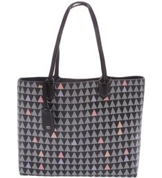 Shopping Double Face Triangle Black