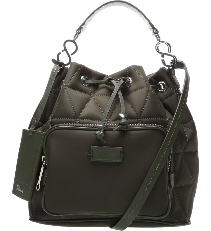 Bucket Bag Nylon Matelassê Green