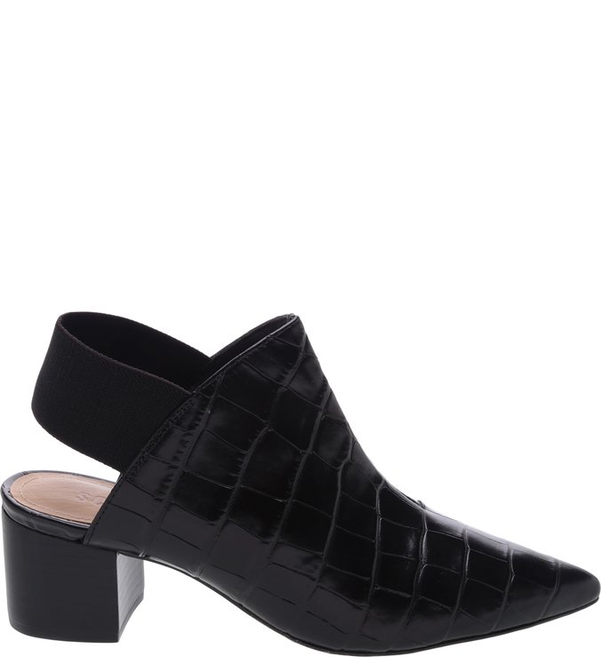 Mule Back Stretch Croco Black | Schutz