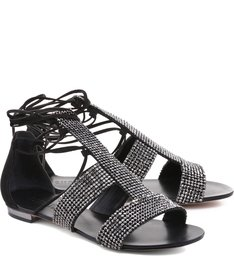 Rasteiras Glam Rock Metalic Black