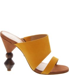 Mule Statement Heel Cut-Out Yellow