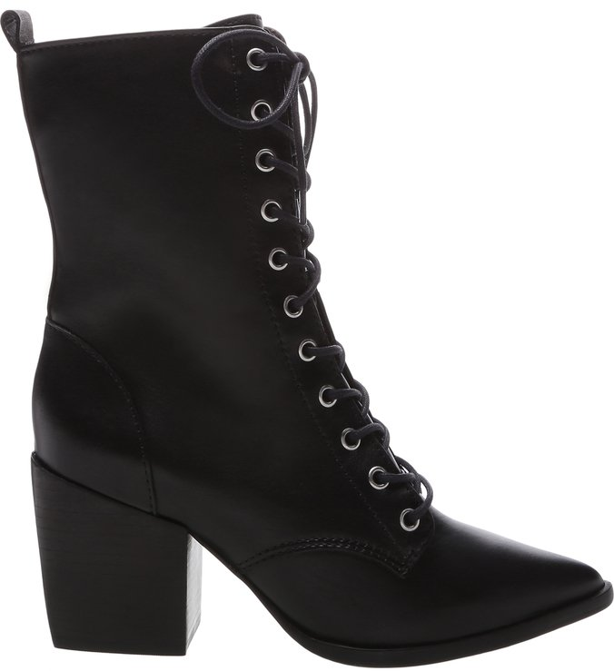 Lace-Up Combat Boots Black