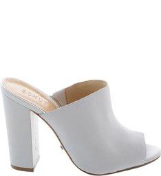 Mule Block Heel Pearl