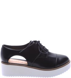 Oxford Flatform Cut Out Black