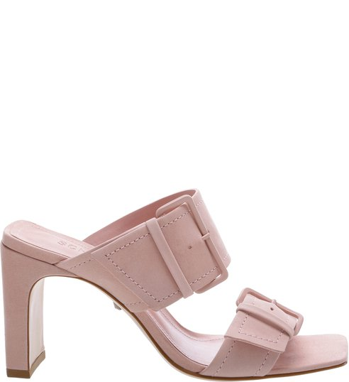 Sandália Mule Super Buckle Rose