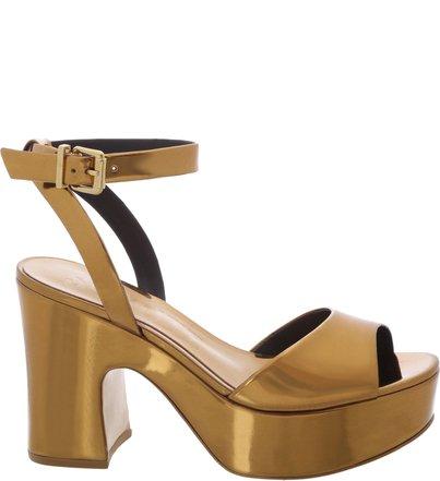 Sandália Plataforma Curves Bronze