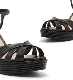 Sandália Anabela Texture Black