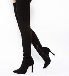 Bota Over The Knee Stretch Black